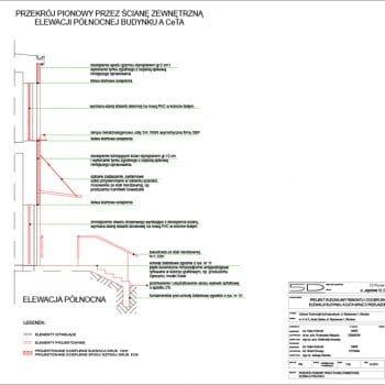 2013 04 29 WFF CeTA PW 9 Przekroj Pionowy PrzezSciane Zewnetrzna Elewacji Polnocnej 350x350